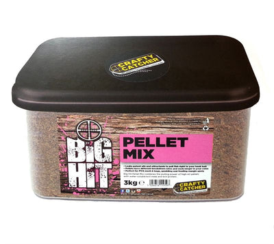 Crafty Catcher Big Hit Pellet Mix 3kg particles Crafty Catcher- GO FISHING TACKLE