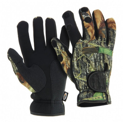 Camo Neoprene Fishing Gloves Clothing NGT- GO FISHING TACKLE