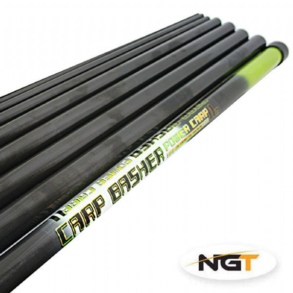 Carp Basher - 11m Full Carbon Pole with Spare Top 3 Sections poles NGT- GO FISHING TACKLE