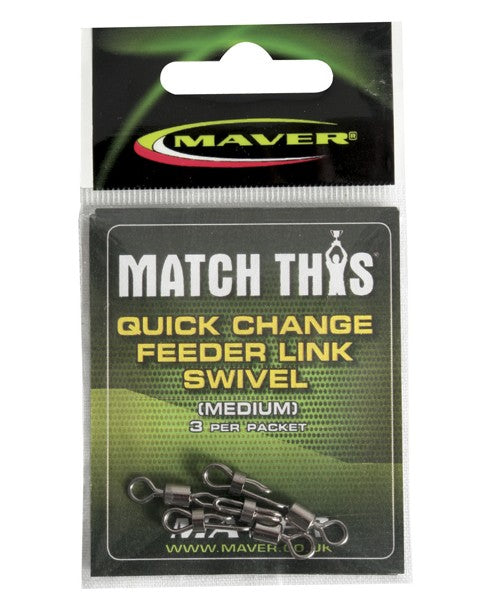 Maver Match This Quick Change Feeder Link Swivel