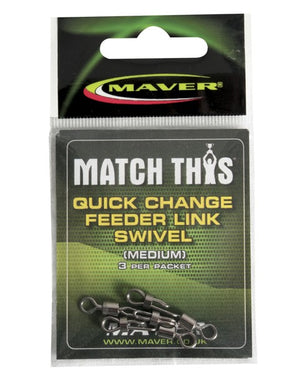 Maver Match This Quick Change Feeder Link Swivel terminal tackle Maver- GO FISHING TACKLE