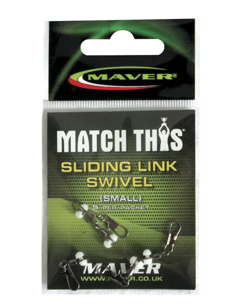 MAVER MATCH THIS SLIDING LINK SWIVEL terminal tackle Maver- GO FISHING TACKLE