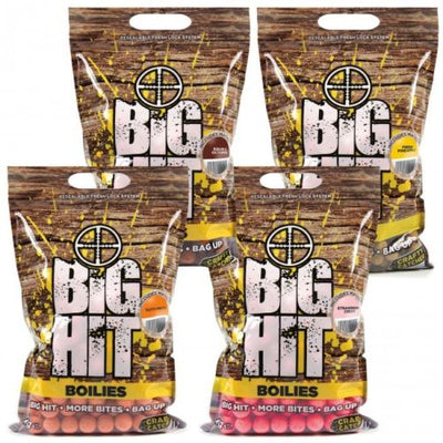 Crafty Catcher Big Hit Boilies 2kg Boilies and Pop Ups Crafty Catcher- GO FISHING TACKLE