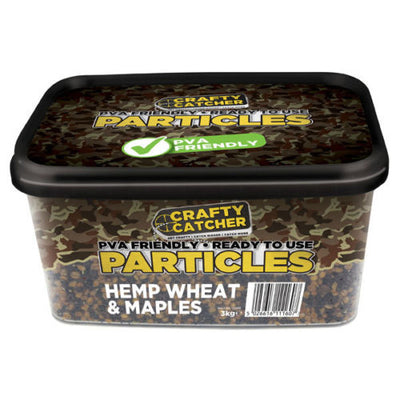 Crafty Catcher PVA Friendly, Ready to Use Particles, Hemp Wheat & Maples, 3Kg particles Crafty Catcher- GO FISHING TACKLE