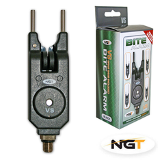 NGT Bite Alarm VS Black, Includes 2 sets of Snag bars Bite Alarms and Indicators NGT- GO FISHING TACKLE