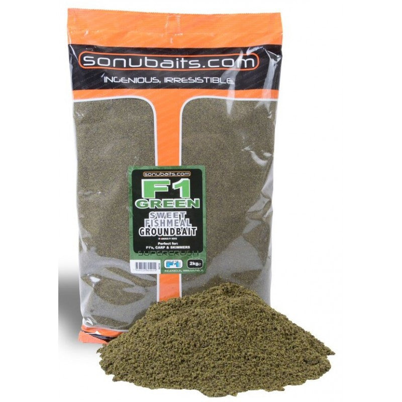 SonuBaits F1 Green Sweet Fishmeal Groundbait groundbaits sonubaits- THE MATCHMEN ANGLING CENTRE