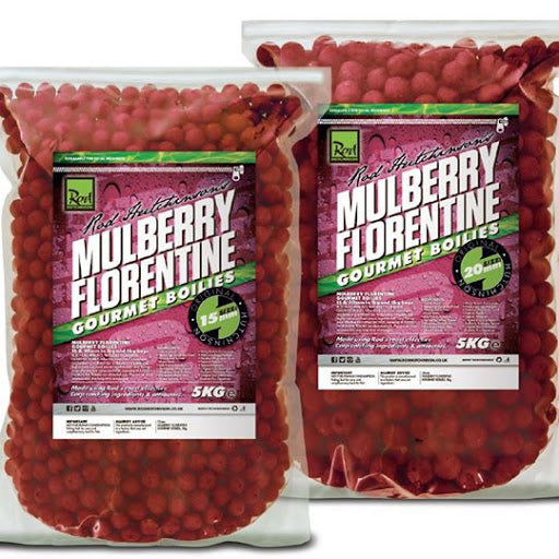 Rod Hutchinsons  Mulberry Florentine Boilies 5kg Boilies and Pop Ups Rod Hutchinson- GO FISHING TACKLE