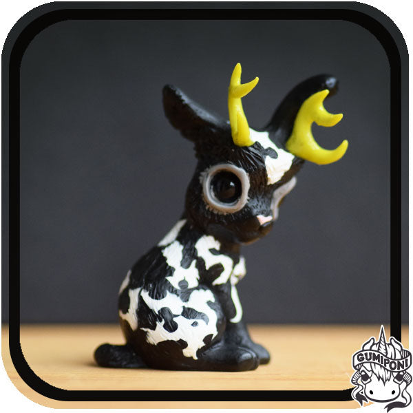 Black Gumi Friday • White & Black Jackalope
