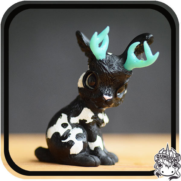 Black Gumi Friday • Aqua Horned Jackalope
