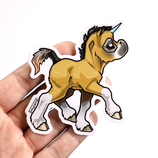 """White Socks Foal"" April 2019 Sticker"