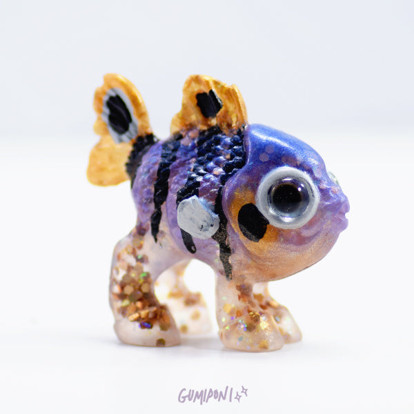 Purple and Gold Hippoh Fry