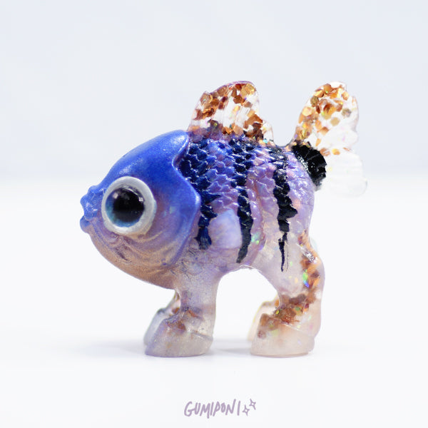 Purple and Gold Striped Hippoh Fry
