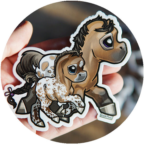 "Appy Mare & Foal ""May"" Sticker"