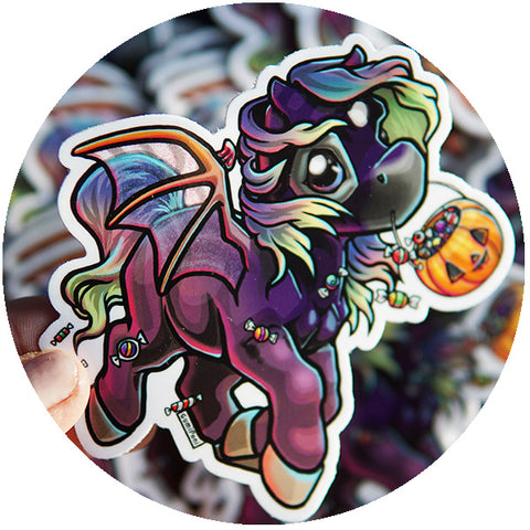"Trick or Treat Fantasy ""October"" Sticker"