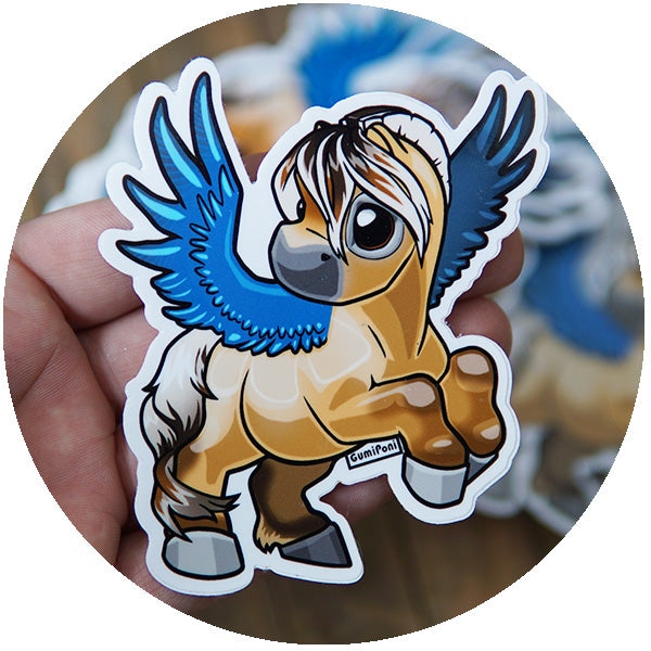 "Fjord Pegasus ""March"" Sticker"
