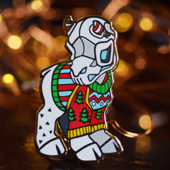Ugly Sweater Grim Enamel Pin! Limited run.