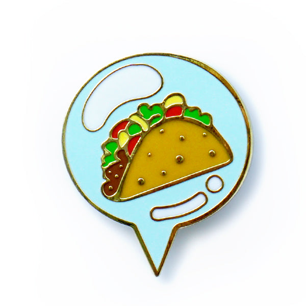 """Thinking About Tacos"" GumiPoni Enamel Pin. Limited run."