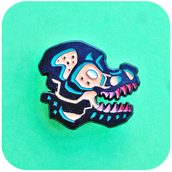 """Uni Dark"" GumiPoni Enamel Pin. Limited run."