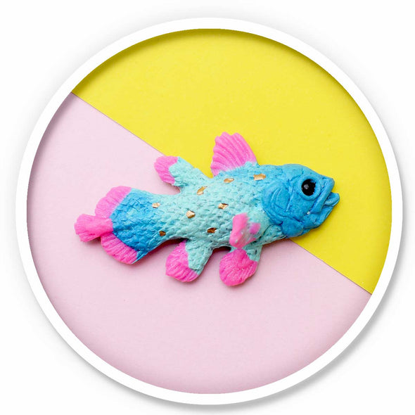 Coelacanth Magnet • Pink Tips