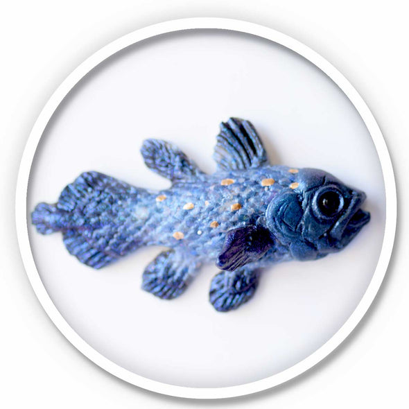 Coelacanth Magnet • Blue Stone