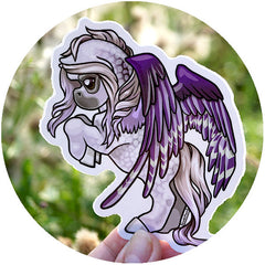 Bold Pegasus June Sticker - Purple Dapple