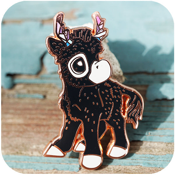 """Donkalope"" GumiPoni Enamel Pin. Limited run."