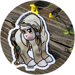 Shy Flowers May Sticker