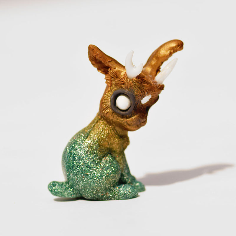 Gold and Green Jackalope GumiPoni
