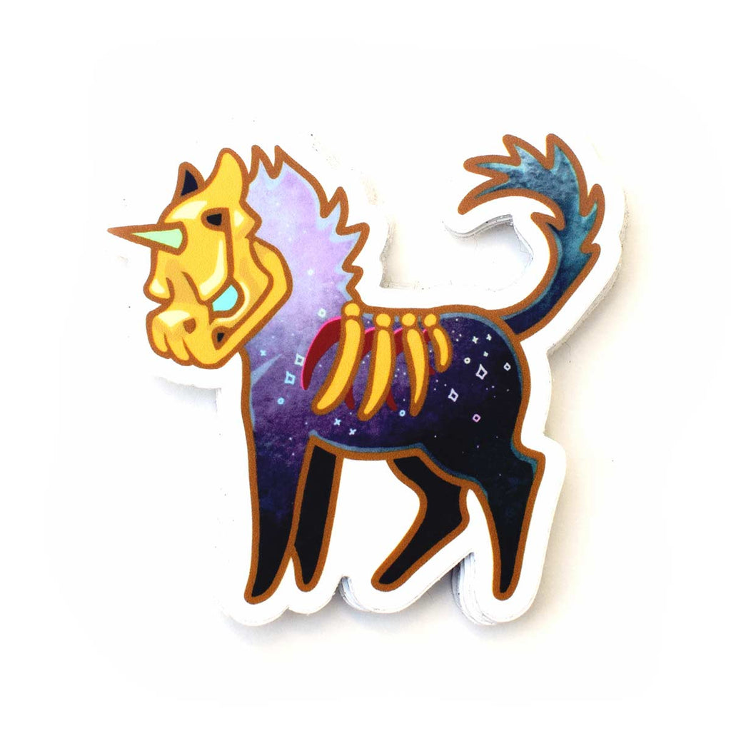 """Goldskull Grim"" GumiPoni Sticker"