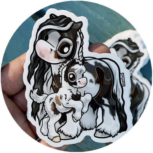 Mare and Foal April 2018 Sticker