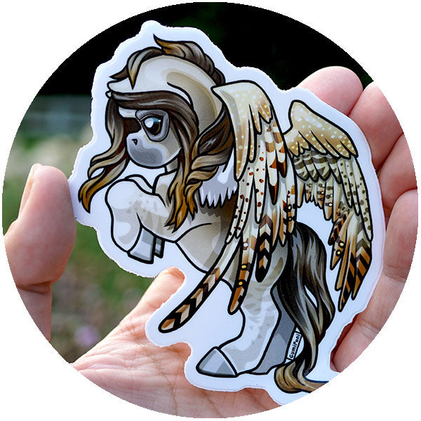 Bold Pegasus June Sticker - Owl