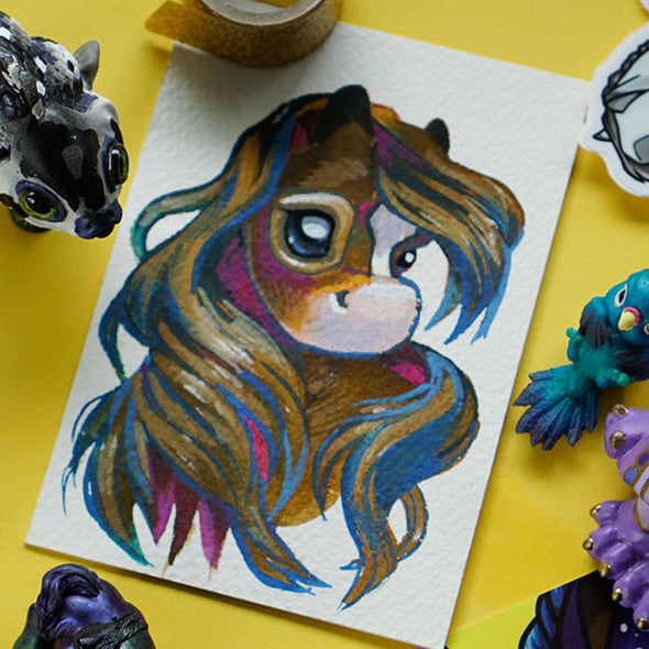 """Mane"" Original Painting by GumiPoni"