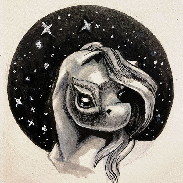"""Sleepy stars"" Original Drawing"