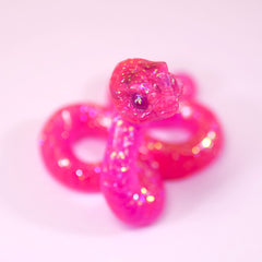 Magenta Glow-in-the-dark SkeleSnek
