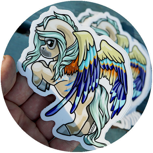 Bold Pegasus June Sticker - Tropic