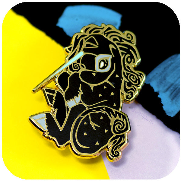"""Black"" Gumisaur Enamel Pin. Limited run."