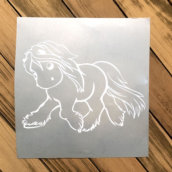 Gypsy White Vinyl Decal
