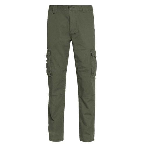 Mens Multi-Pocket Cargo Trousers - Cotton Work Pants