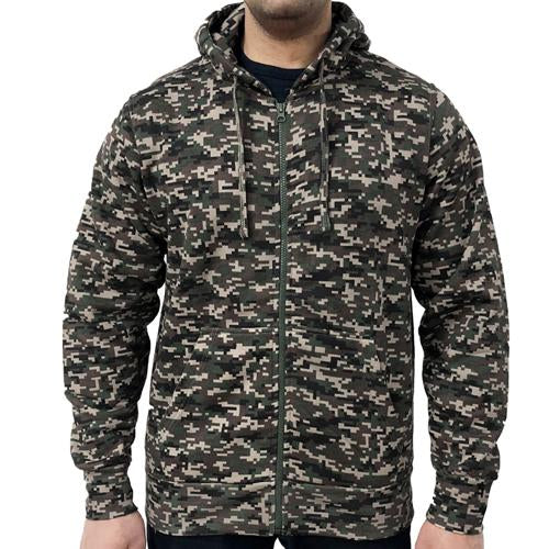 Game Digital Camouflage Zip Hoodie