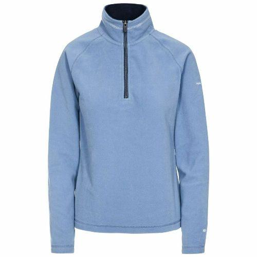 Ladies Trespass Skylar Half Zip Top Fleece Jumper