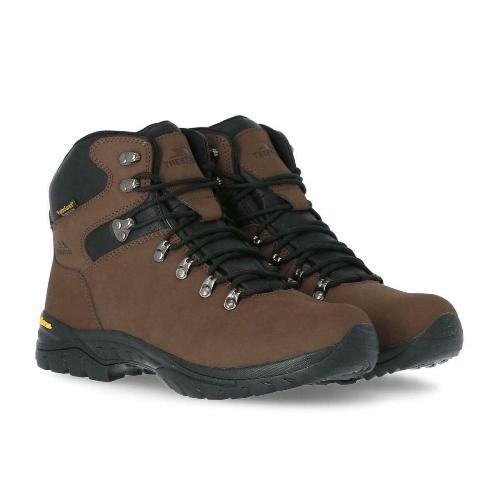 Mens Trespass Lochlyn Walking Boots Waterproof Breathable Gusseted Tongue
