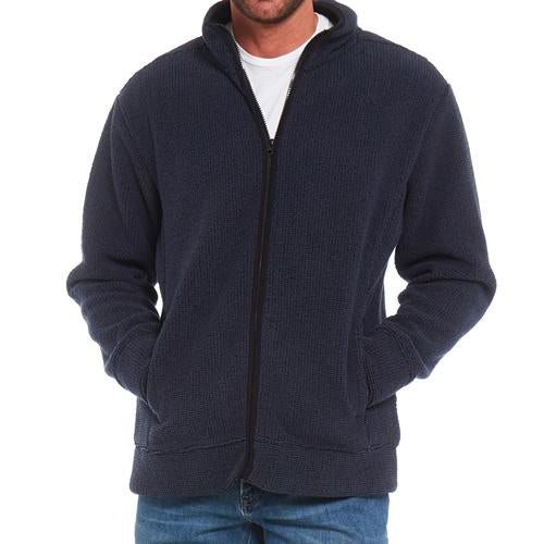 Mens Arctic Storm Kingston Bonded Sherpa Fleece Zip Top