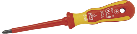 NWS 019K-PH0-60 Screwdriver for cross-slotted screws VDE