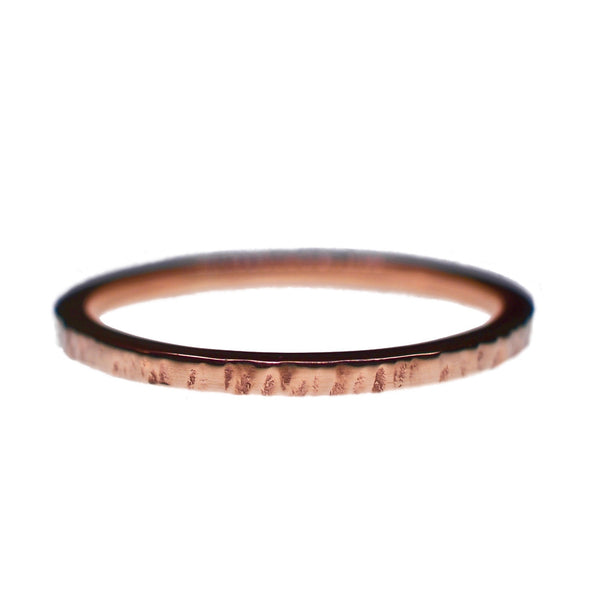 9ct Rose Gold Textured Obsession Ring