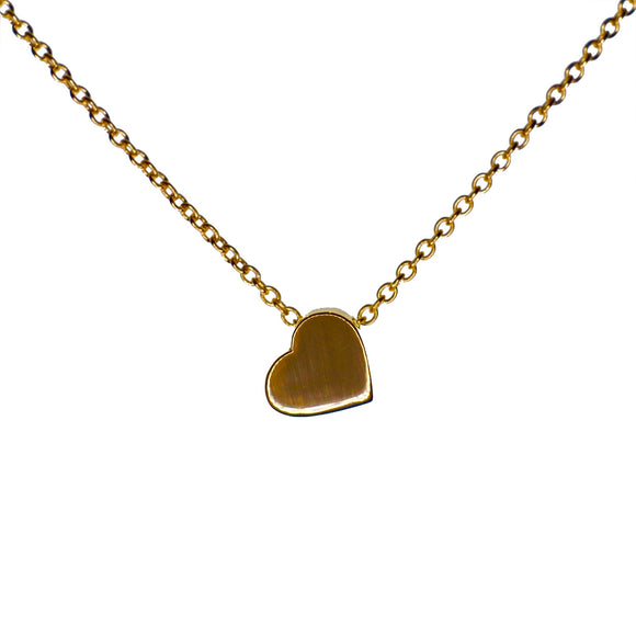 9ct Yellow Gold Polished Chunky Heart Pendant