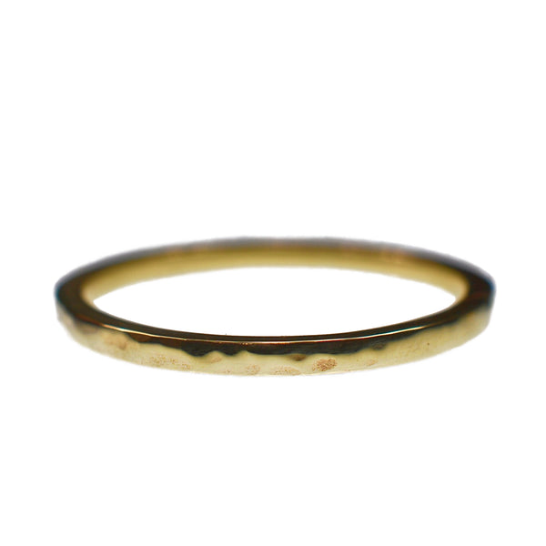9ct Yellow Gold Textured Obsession Ring
