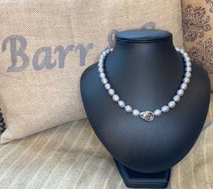 Grey Freshwater Pearl with Feature Clasp