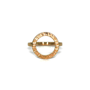Cylch 9ct Yellow Gold Ring
