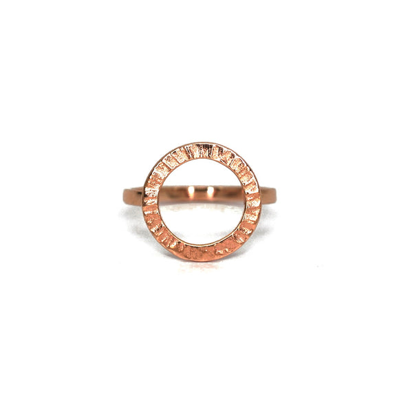 Cylch 9ct Rose Gold Ring