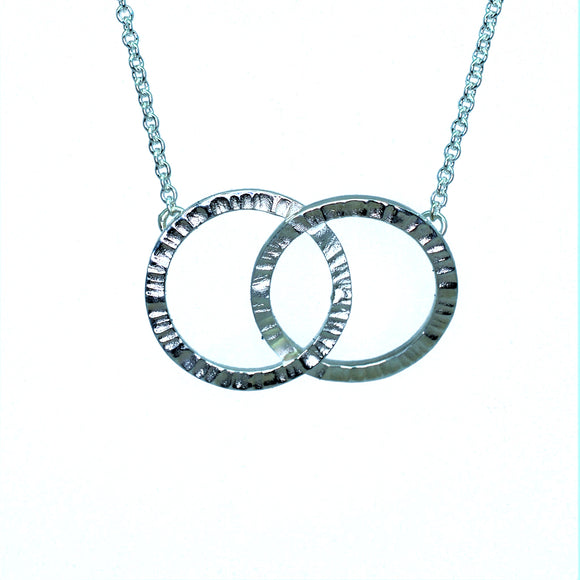Cylch Silver Double Link Pendant
